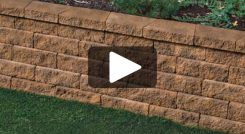 Installing a Retaining Wall Battered or Vertical Using Tango™ Lawn-and-Garden Project Block