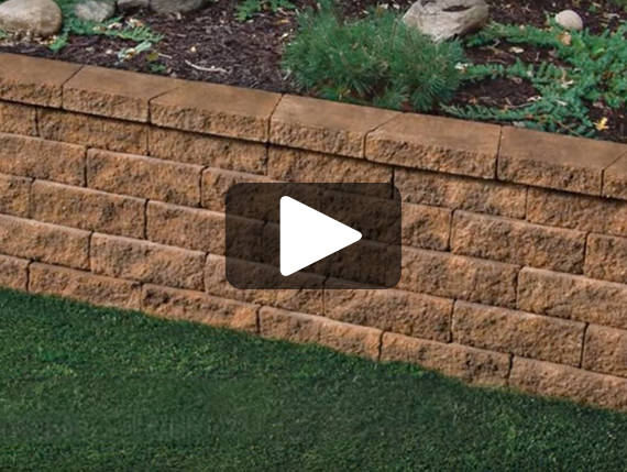Installing a Retaining Wall Battered or Vertical Using Tango<sup class='supt'>&trade;</sup> Lawn-and-Garden Project Block