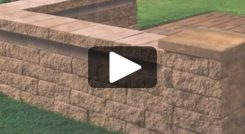 Building a Straight Seat Wall with Corner Using Tango™ Lawn-and-Garden Project Block