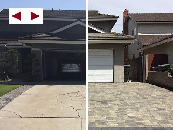Gray-Charcoal Courtyard Driveway